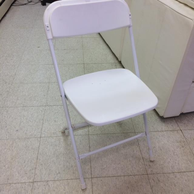Where to find CHAIR, FOLDING METAL WHITE in Kalamazoo