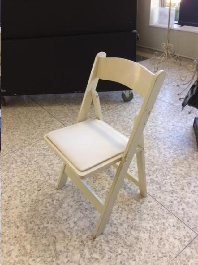 Where to find CHAIR, WOOD PADDED SEAT WHITE in Kalamazoo