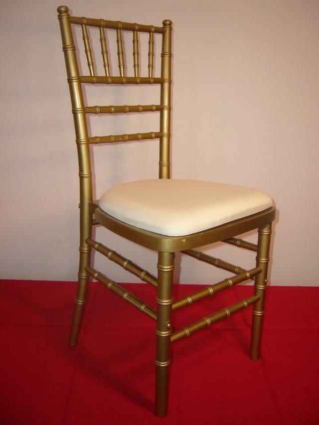 Where to find CHAIR,CHIAVARI GOLD WHITE SEAT in Kalamazoo
