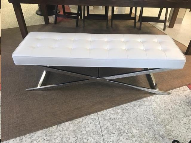 Where to find BENCH, WHITE 5  LEATHER in Kalamazoo
