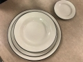 Rental store for CHINA, BLACK RIM 12  DINNER PLATE in Kalamazoo MI