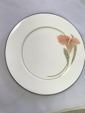 Rental store for CHINA, BLACK RIM W  FLOWERS SALAD PLATE in Kalamazoo MI