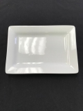 Rental store for CHINA, WHITE RECTANGLE PLATE 8 X5.5 in Kalamazoo MI