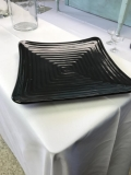 Rental store for CHINA, BLACK SQUARE DINNER PLATE PLASTIC in Kalamazoo MI