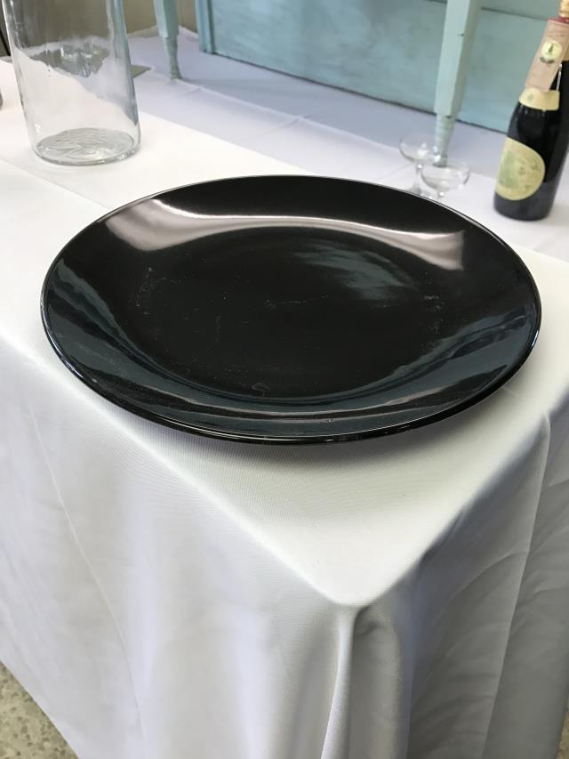 Where to find CHINA, BLACK ROUND PLATE in Kalamazoo