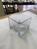 Rental store for VASE, 3X3  SQUARE GLASS VASE in Kalamazoo MI