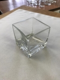 Rental store for VASE, 3.5  SQUARE GLASS VASE SQ EDGE in Kalamazoo MI