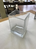 Rental store for VASE, 4X8 GLASS SQUARE VASE SQ EDGE in Kalamazoo MI