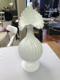Rental store for VASE,15  WHITE SWIRL in Kalamazoo MI