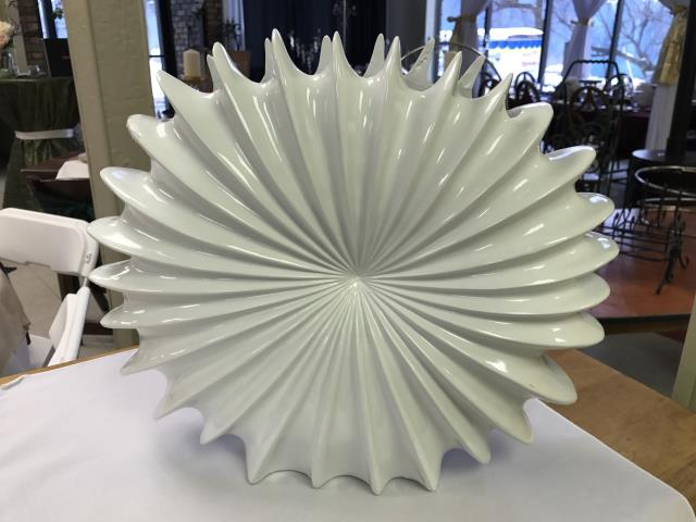 Where to find VASE, WHITE SWIRL ROUND 14X16 in Kalamazoo