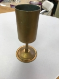 Rental store for VASE, GOLD VASE WITH STEM 6 in Kalamazoo MI