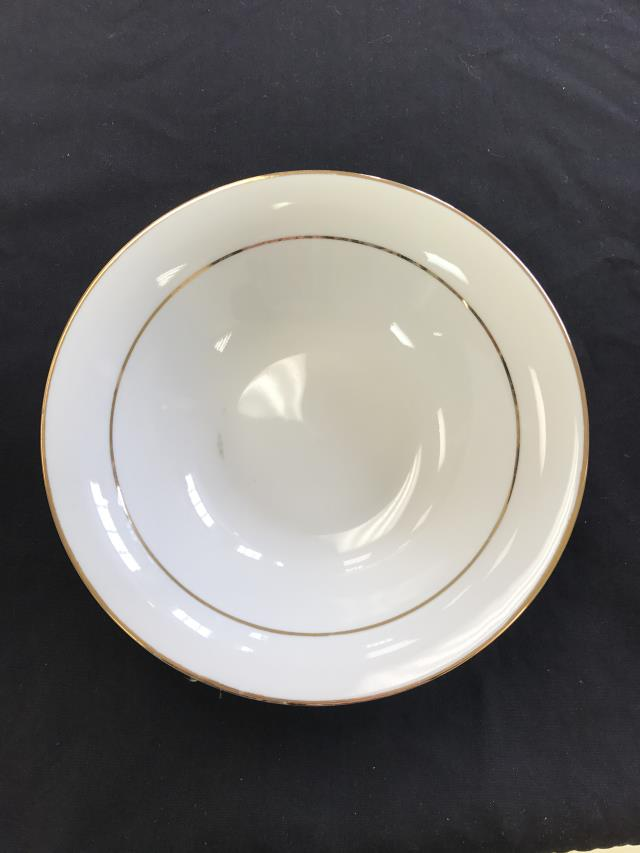 Where to find CHINA, 8  BOWL GOLD DBL RIM WHITE in Kalamazoo