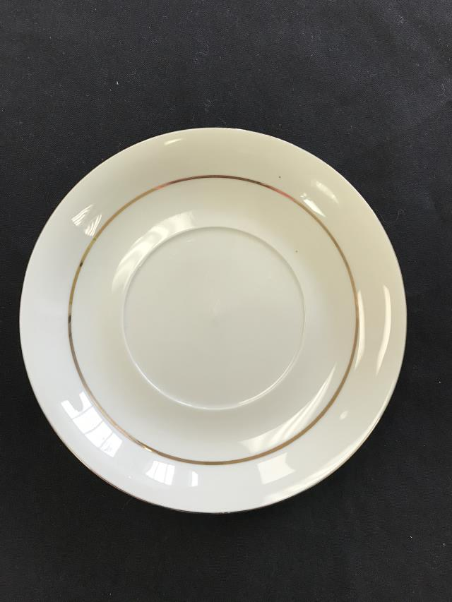 Where to find CHINA, SAUCER PLATE GOLD DBL RIM 6  WB in Kalamazoo