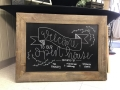 Rental store for WIDE WOOD FRAME CHALK BOARD in Kalamazoo MI