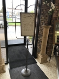 Rental store for CAST IRON SIGN FRAME WITH WOOD SIGN in Kalamazoo MI
