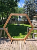Rental store for ARCH, SMALL WOOD HEXAGON ARCH in Kalamazoo MI