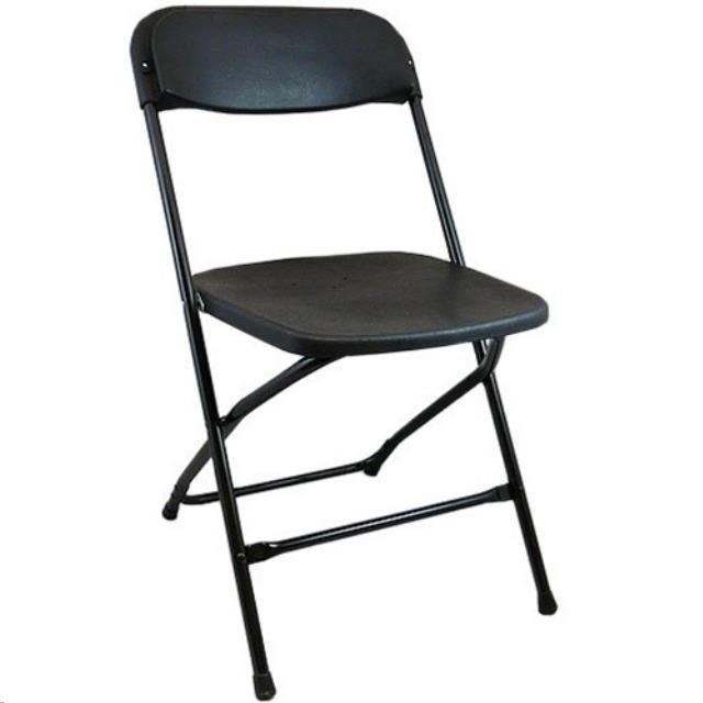 Where to find CHAIR, FOLDING METAL BLACK in Kalamazoo
